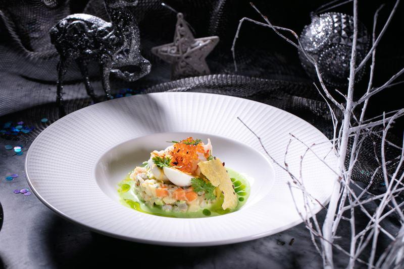 Рецепты салата «Оливье» от шеф-поваров - Оливье с лангустинами от ресторана Humans