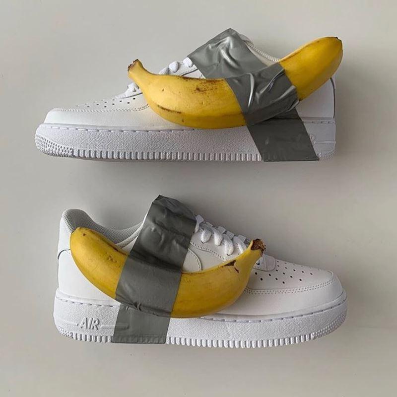 Банановое искусство: топ-9 арт-объектов - Кроссовок с бананом