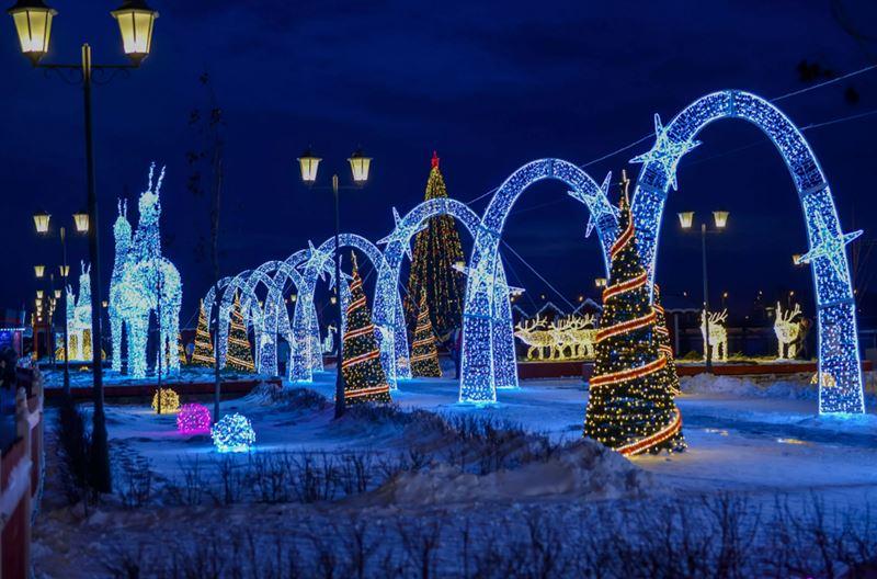 Новогодний фестиваль на Кремлевской набережной в Казани - фото 3