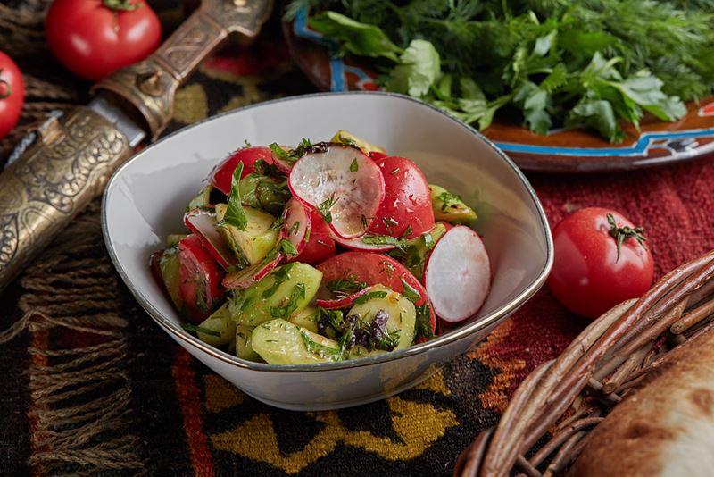 Рецепты постных овощных салатов - Салат из овощей по-мегрельски