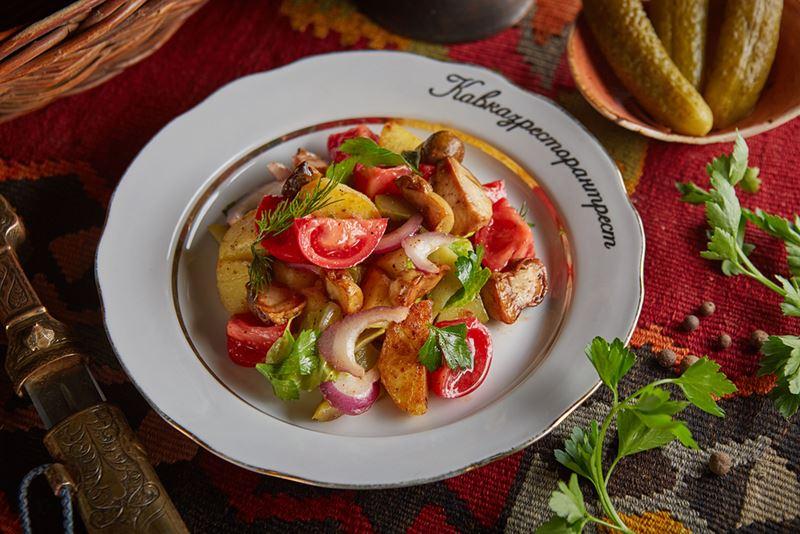Рецепты постных овощных салатов - Салат с белыми грибами