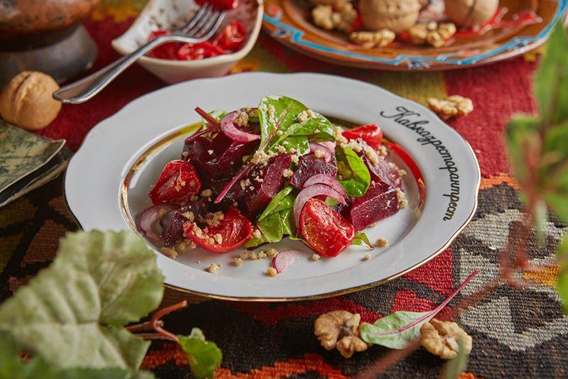 Рецепты постных овощных салатов - Салат со свеклой