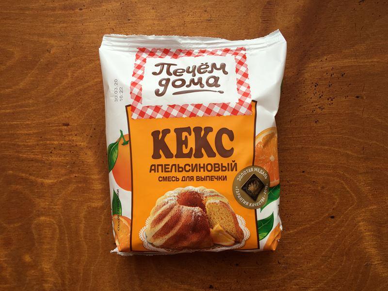 Апельсиновый кекс из готовой смеси «Печём дома» - отзыв и пошаговое фото 1