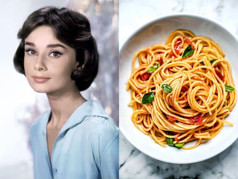 Знаменитости и их любимая паста - Одри Хепберн – паста маринара (с томатным соусом)