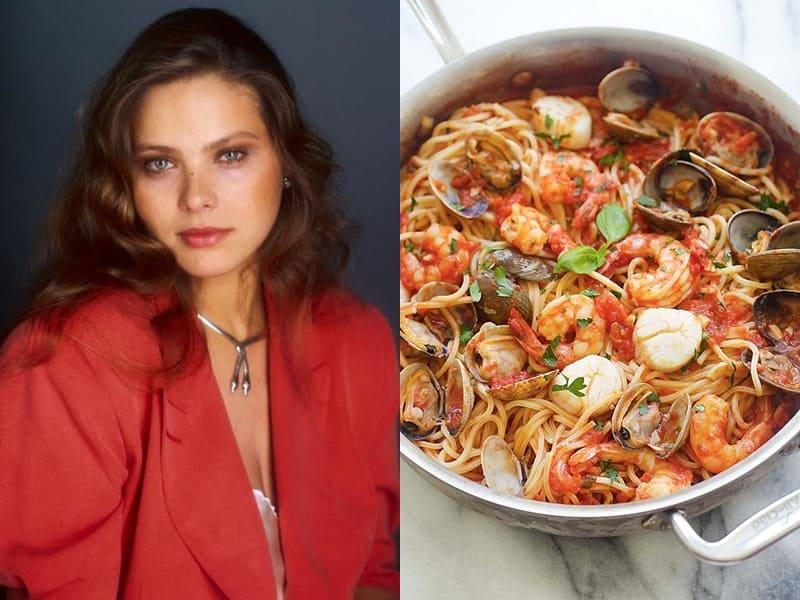 Знаменитости и их любимая паста - Орнелла Мути – паста с морепродуктами