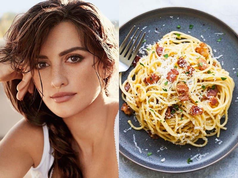 Знаменитости и их любимая паста - Пенелопа Крус – спагетти алла карбонара