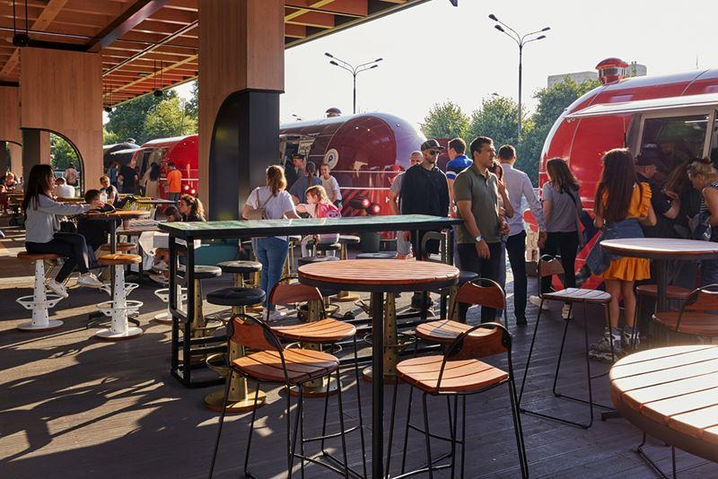 Новое место в Москве: рестопаркинг в Парке Горького - интерьер